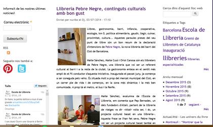 Llibreria Pebre Negre, continguts culturals amb bon gust