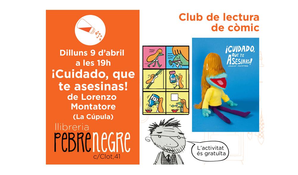 Cartell de l'activitat de club de còmic