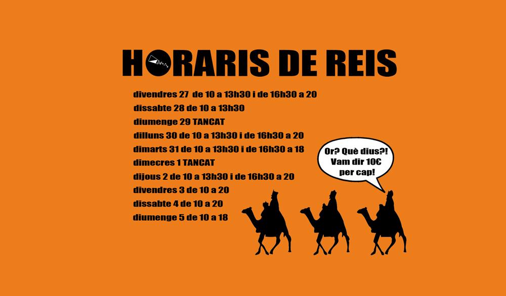 Horaris de Reis
