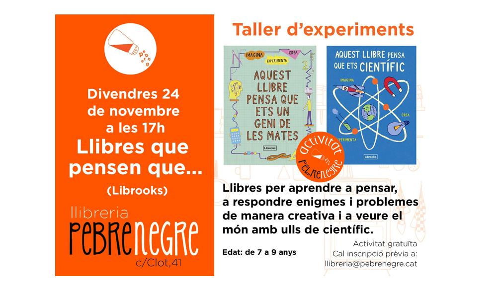 [DV 24/11/17, 17h] Taller d'experiments